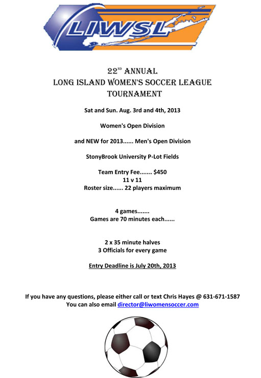 22nd Annual LIWSL Tournament