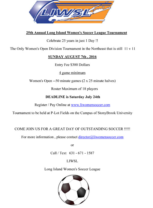 24th Annual LIWSL Tournament